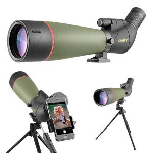 Gosky Spotting Scope with Tripod-Smartphone Adapter-Carrying Bag
