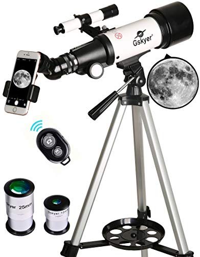 Gskyer Refractor Telescope with Tripod - Smartphone Adapter - Carrying Bag