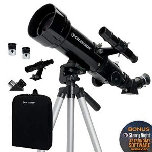 Celestron Refractor Telescope With Tripod - Eyepieces - Lenses - Carrying Bag