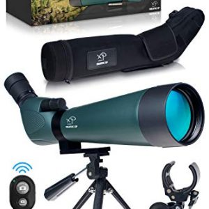 Spotting Scope with Protective Case-Tripod-Phone Adapter-Photo Clicker