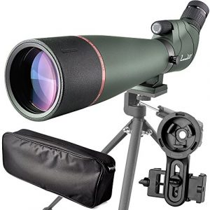 Spotting Scope with Carrying Case-Tripod-Smartphone Adapter