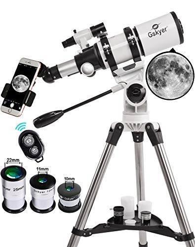 Gskyer Refractor Telescope With Tripod - Smartphone Mount - 80 x 400mm