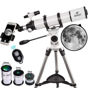 Gskyer Refractor Telescope With Smartphone Mount - 90 x 600mm