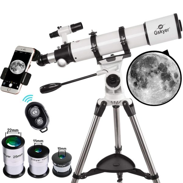 Gskyer Refractor Telescope With Smartphone Mount - 90 x 600mm