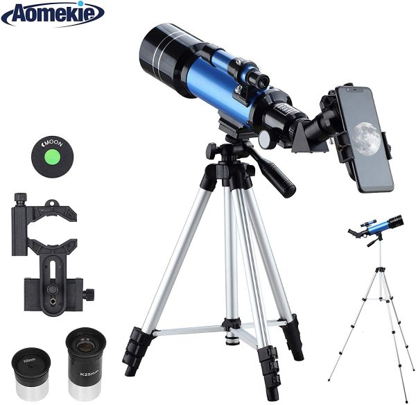 Aomekie Refractor Telescope with Tripod-Phone Adapter-Eyepieces-Lenses