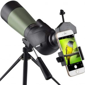 Gosky Spotting Scope with Tripod-Phone Mounting Adapter-Carrying Bag