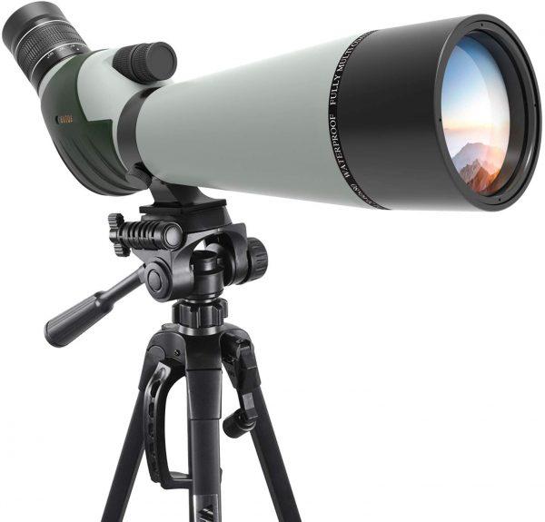 Emarth Spotting Scope with Camera Tripod-45 Degree Angled Eyepiece